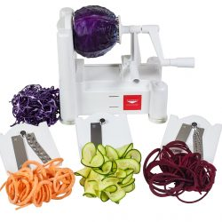 Paderno World Cuisine Tri-Blade Vegetable Spiral Slicer