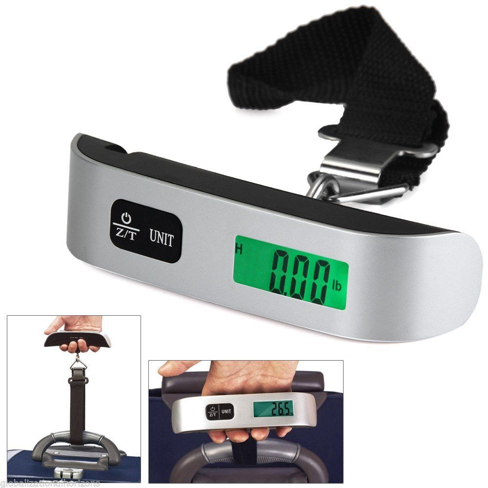 Portable LCD Digital Hanging Luggage Scale 50kg/10kg
