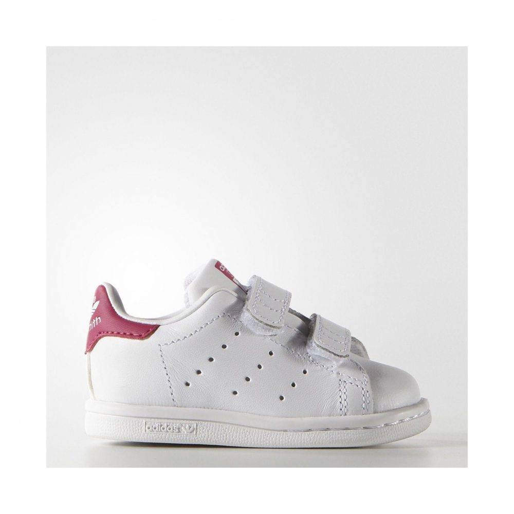 adidas stan smith leather velcro shoe for kids. Black Bedroom Furniture Sets. Home Design Ideas