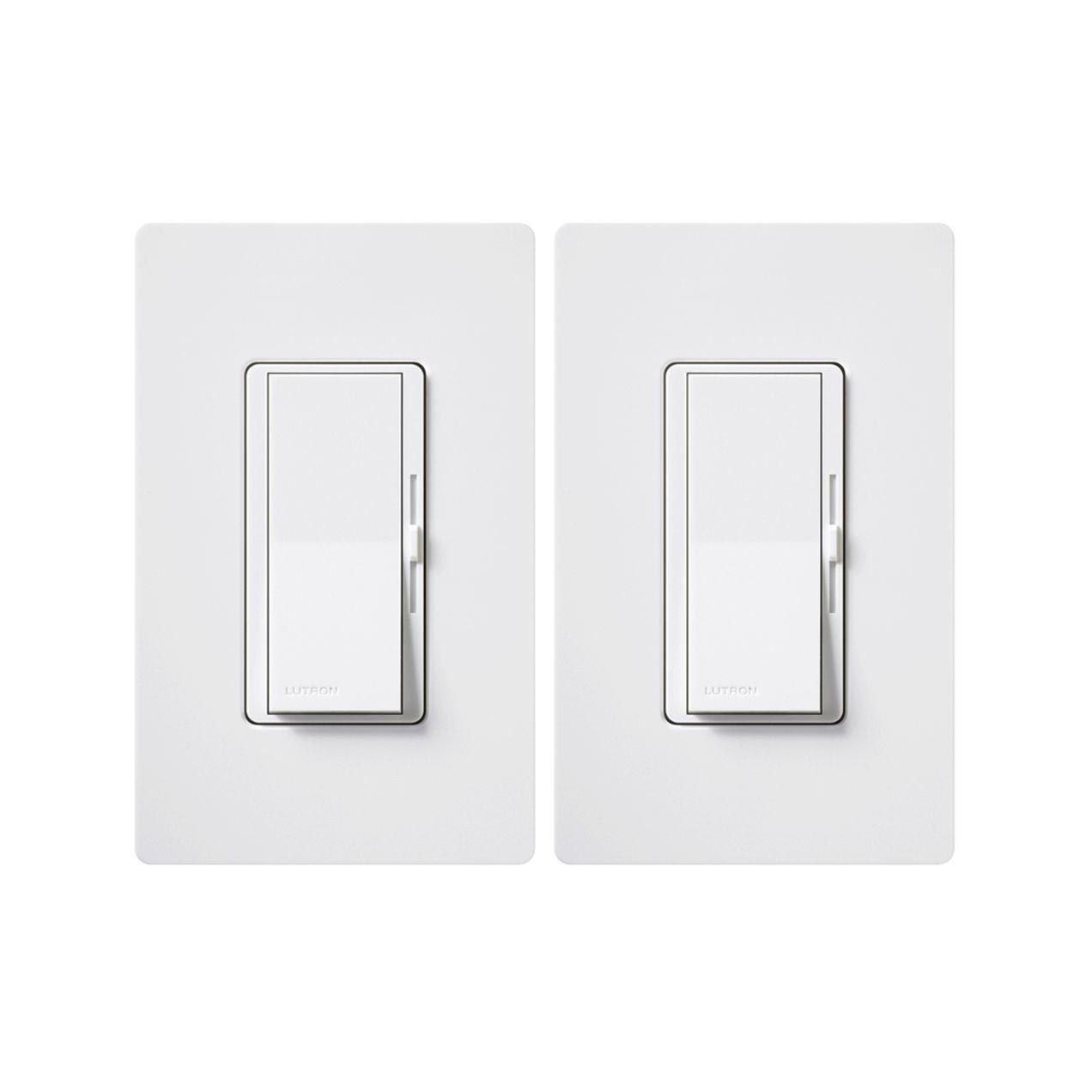 2 Pack Diva 150 Watt Single Pole 3 Way Cfl Led Dimmer With