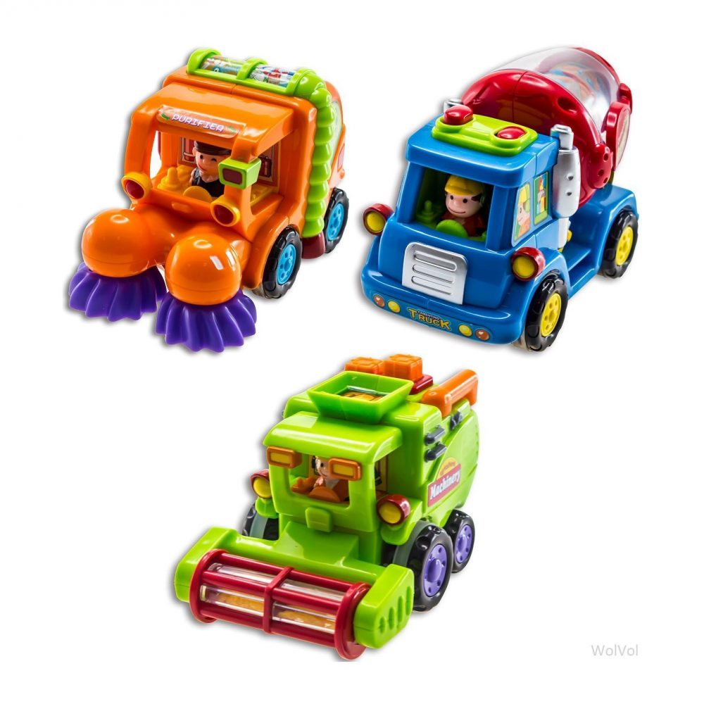 Motorized Toys For Boys : Wolvol push and go friction powered car toys for boys