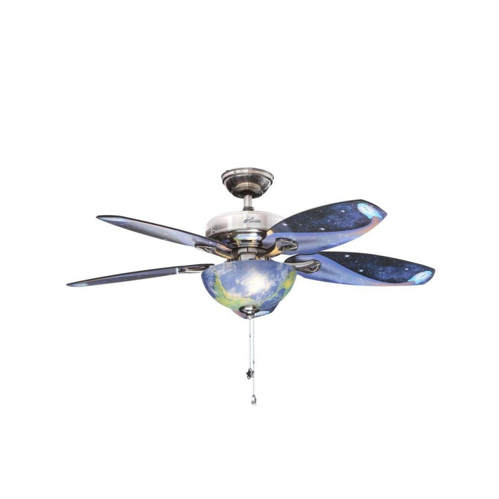 Hunter Discovery 48 In Indoor Brushed Nickel Ceiling Fan