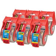 Scotch Heavy Duty Shipping Packaging Tape – 6 Rolls with Dispenser
