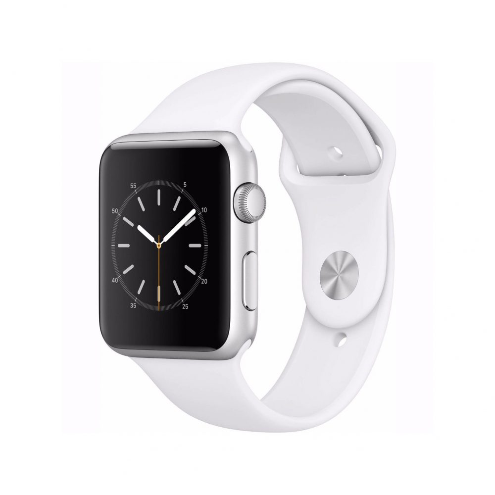 apple watch 2 series 1 42mm silver aluminum case white. Black Bedroom Furniture Sets. Home Design Ideas