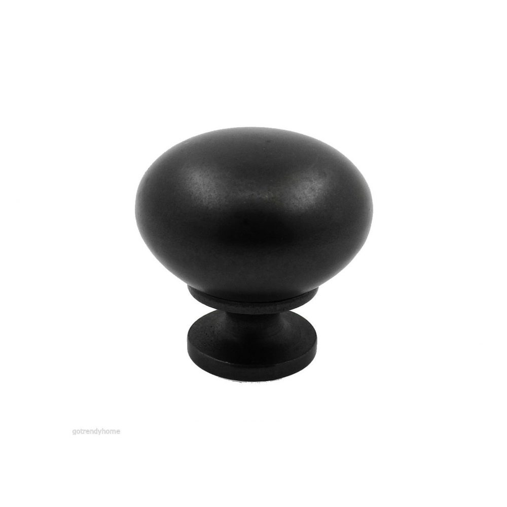 Dull Antique English Black Kitchen Cabinet Knob Pull