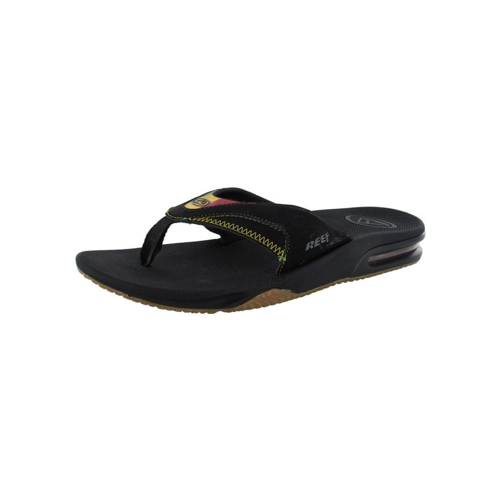 reef fanning bottle opener thong flip flop sandals men. Black Bedroom Furniture Sets. Home Design Ideas