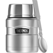 Thermos Stainless King Food Jar with Folding Spoon – 16 Ounce