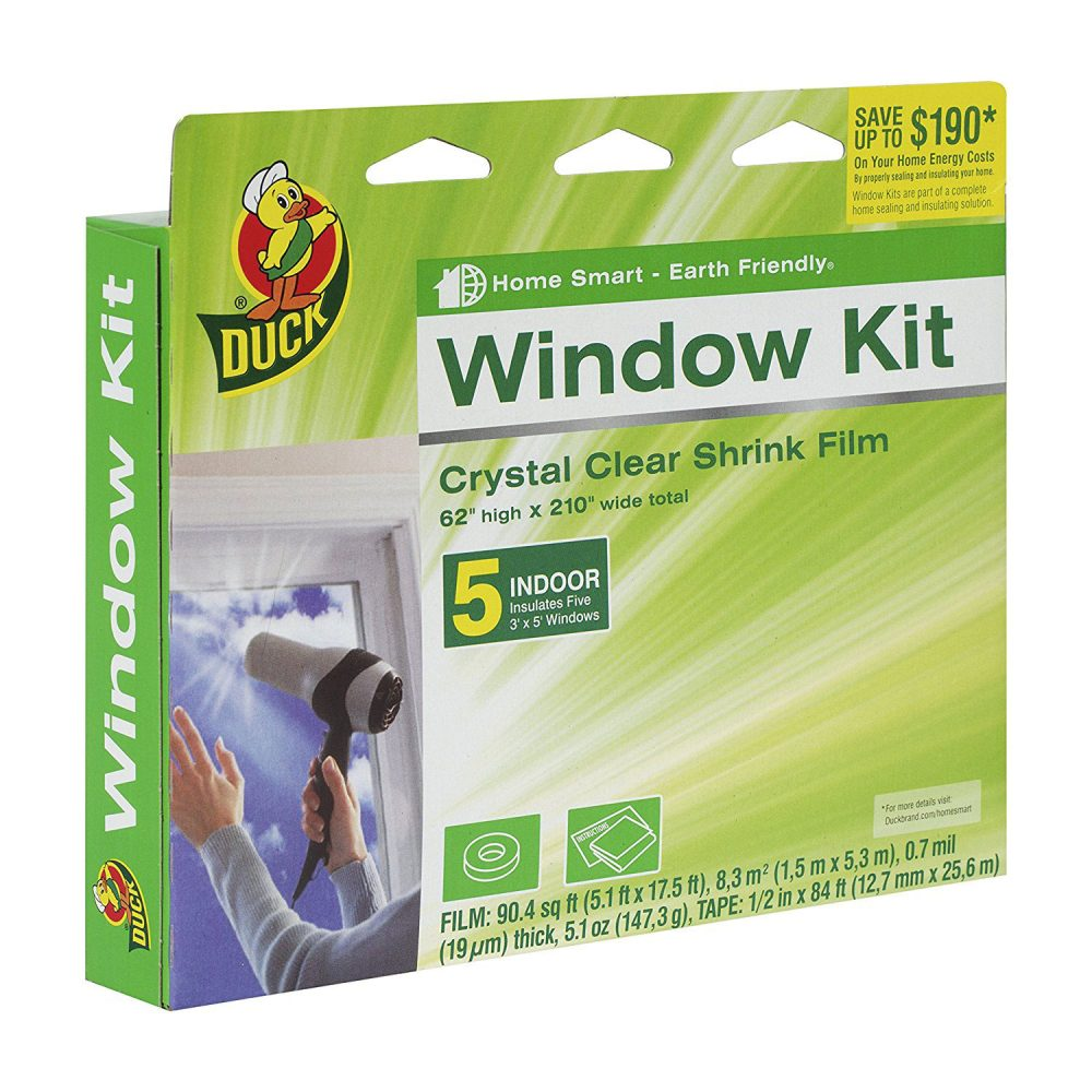 Duck Brand Indoor 5 Window Shrink Film Kit