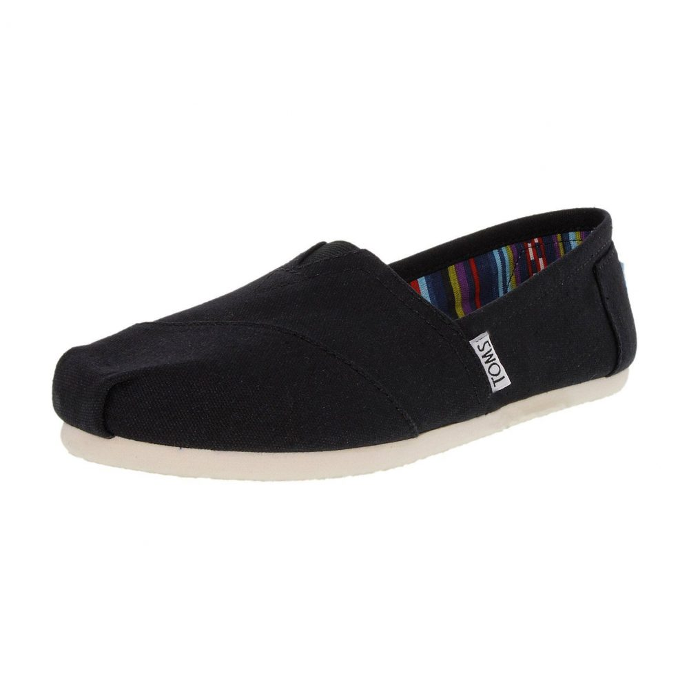 Toms Classic Canvas Ankle-High Canvas Flat Shoes - Women