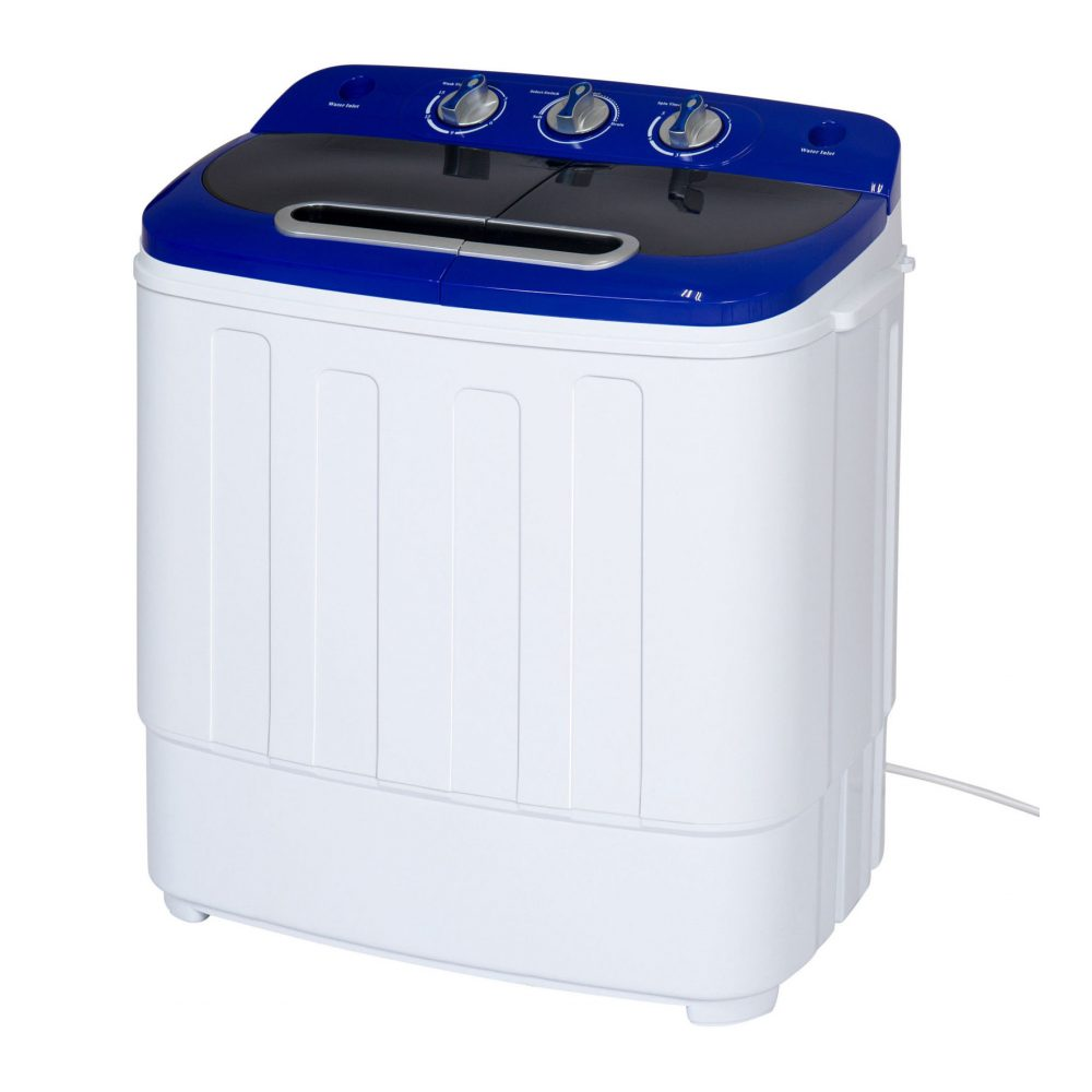 Portable compact mini twin tub washer and spin cycle dryer for Portable washer and dryer