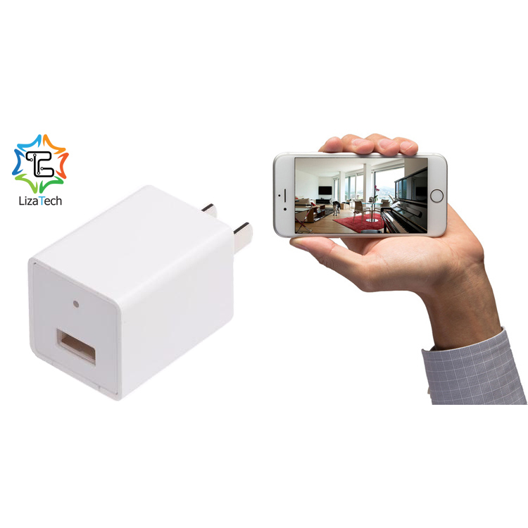 LizaCam USB Wall Plug With Hidden IP Camera With Free IOS