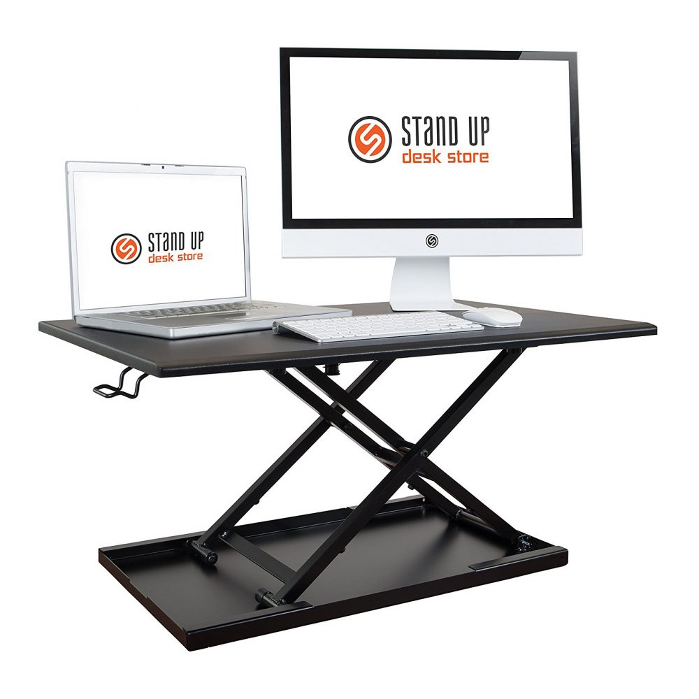 stand up desk store air rise standing desk converter sit to stand. Black Bedroom Furniture Sets. Home Design Ideas