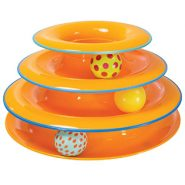 Petstages Tower of Tracks Cat Toy – 3 Level of Ball-spinning