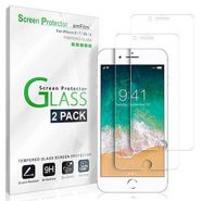 amFilm iPhone 8 Plus, 7 Plus, 6S Plus, 6 Plus Screen Protector Glass – 2 Pack