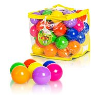 FoxPrint Soft Plastic Kids Play Balls – 50 Balls