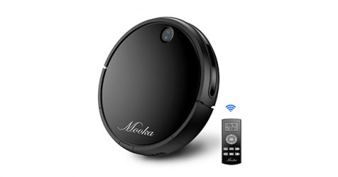 MOOKA Robotic Vacuum Cleaner for Hard Floors and Thin Carpets