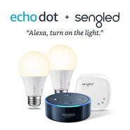 Echo Dot 2nd Gen + Element by Sengled 2 Bulb Kit