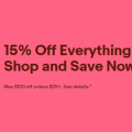 eBay 15% off on everthing for one day