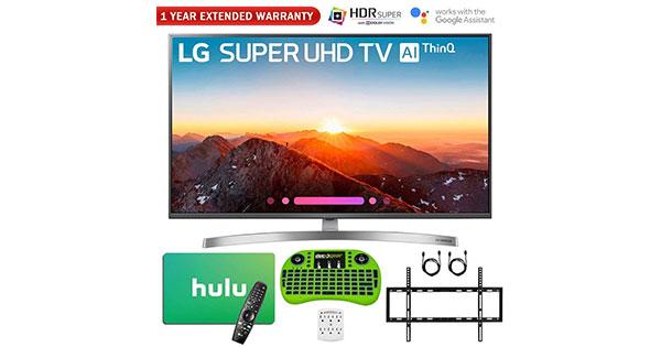 Lg Thinq 49 Inch 4k Hdr Smart Led Ai Super Uhd Tv 2018 Model Bundle