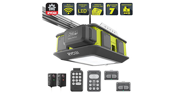 Ryobi Ultra Quiet Garage Door Opener With Battery Backup