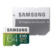 Samsung MicroSDXC Evo 64GB Memory Card with Adapter
