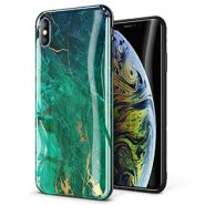 GVIEWIN Marble Desing Slim Glossy Case for iPhone Xs MAX