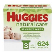 Huggies Natural Care Sensitive Baby Wipes, Unscented – 624 Wipes