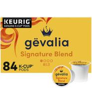 84-Pods Gevalia Signature Blend Mild Roast K-Cup Coffee Pods
